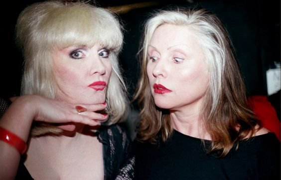Jayne and Debbie Harry at Squeezebox 1998