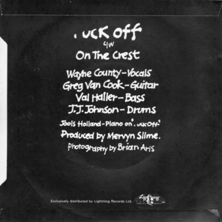 Fuck Off back cover