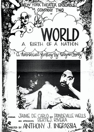 World - A Birth Of A Nation programme back cover
